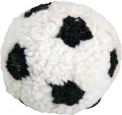 James Steel Plush Berber Football With Squeaker Dog Toy 12cm
