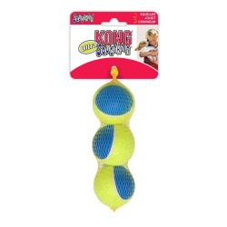 DOTS LONDON DONATION - Kong Ultra SqueakAir Tough Tennis Ball - Medium - 3 Pack