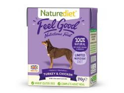 Naturediet Gluten Free Wet Dog Food (Adult) - Turkey and Chicken 390g