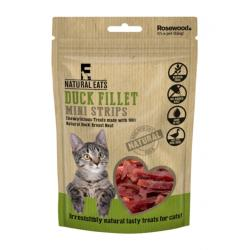Rosewood Natural Eats Cat Treats - Duck Fillet Mini Strips 50g