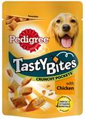 Pedigree Tasty Bites Dog Treats Crunchy Pockets with Chicken 95g