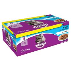 PHIBSBORO CAT RESCUE DONATION - Whiskas Cat Pouch Multipack - Fish Selection - 40 X 100g