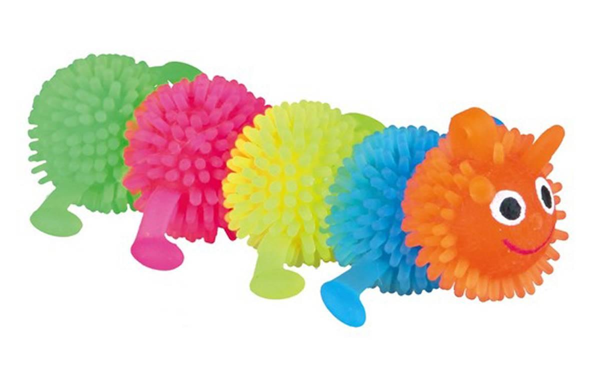 Rubber Caterpillar Dog Toy