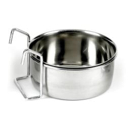 Classic Stainless Steel Hook-On Coop Cup Pet Cage & Crate Bowl