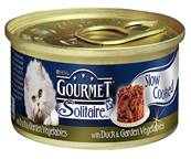 Gourmet Solitaire Cans 85g Slow Cooked with Duck & Garden Vegetable Sauce Singles