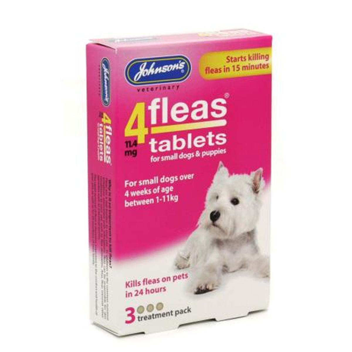 Johnsons 4Fleas Flea Removal Tablets For Small Dogs (1kg