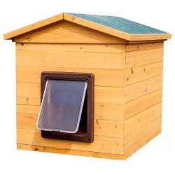 Wooden Dog Kennel With Flap (Small)