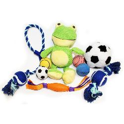 Dog Toy Mega Pack - Contains 9 Toys - Ropes, Balls & Plush Toys!