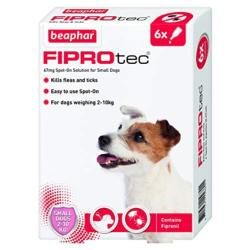 Beaphar Fiprotec Spot On Flea Removal and Prevention for Small Dogs (2 - 10kg) - 6 Treatments