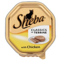 Sheba Cat Tray 85g Classics / Chicken in Terrine