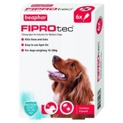 Beaphar Fiprotec Flea & Tick Spot On Treatment - Medium Dog (10kg - 20kg)