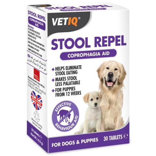 VetIQ Stool Repel Coprophagia Aid For Dogs & Puppies (30 Tablets)