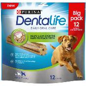 DOTS LONDON DONATION - Dentalife Dog Dental Chew Treats - Large, 12 Sticks