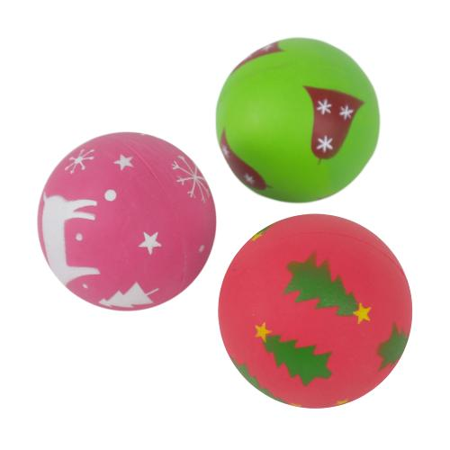 Rosewood Cupid & Comet Festive Rubber Ball - 3 Christmas Designs