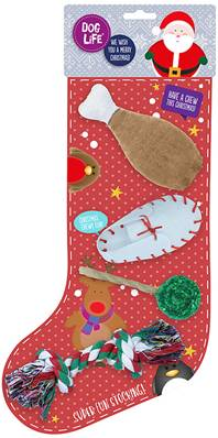 Dog Life Super Chew And Play Christmas Stocking For Dogs