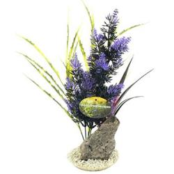 Cheeko Aqua Dreamscapes Aquatic Plant - Rock With Sea Plants 32cm