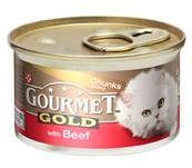 Gourmet Gold Cans 85g Beef in Chunks in Gravy
