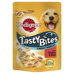 Pedigree Tasty Bites Cheesy Nibbles With Cheese & Beef (140g)