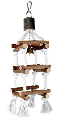 Trixie Natural Living Bird Tower With Ropes 34cm