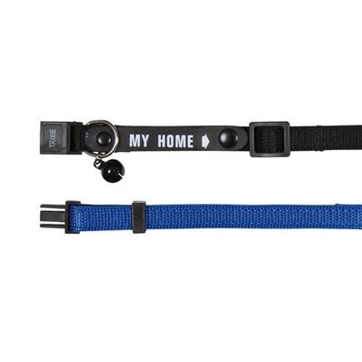 Trixie Cat Collar With Address Tag Reflective Nylon