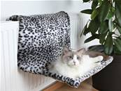 Trixie Radiator Bed Plush Snow Leopard Pattern 58x30x38cm