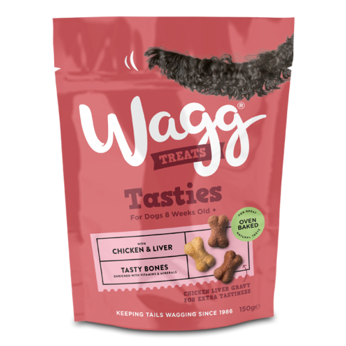 Wagg Tasties Chicken & Liver Tasty Bones (150g)