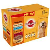 Pedigree Wet Dog Food Pouches (Adult) - Favourites in Jelly (12 X 100g)
