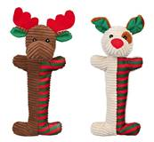 Trixie Christmas Long Plush Reindeer Dog Toy With Squeaker