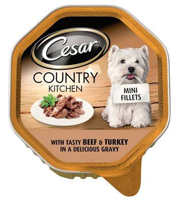 Cesar Country Kitchen Mini Fillets Wet Dog Food - Beef and Turkey 150g