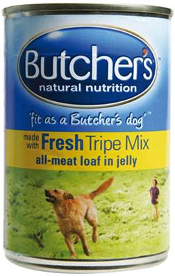 Butchers Gluten Free Wet Dog Food Tin - Fresh Tripe Mix 400g