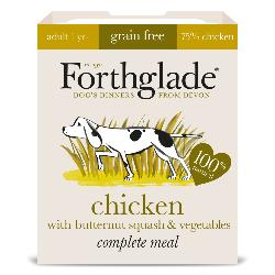 Forthglade Grain Free Chicken & Vegetables Natural Complete Dog Food Tray 395g