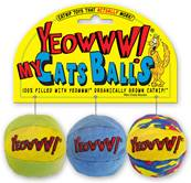 Rosewood Yeowww My Cats Balls Pack Of 3