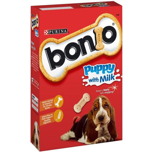 Bonio Puppy Biscuits With Milk (350g)