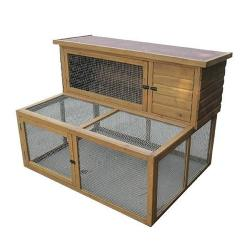 "Lazy Bones Rabbit Hutch & Double Run 50"" LB-305"