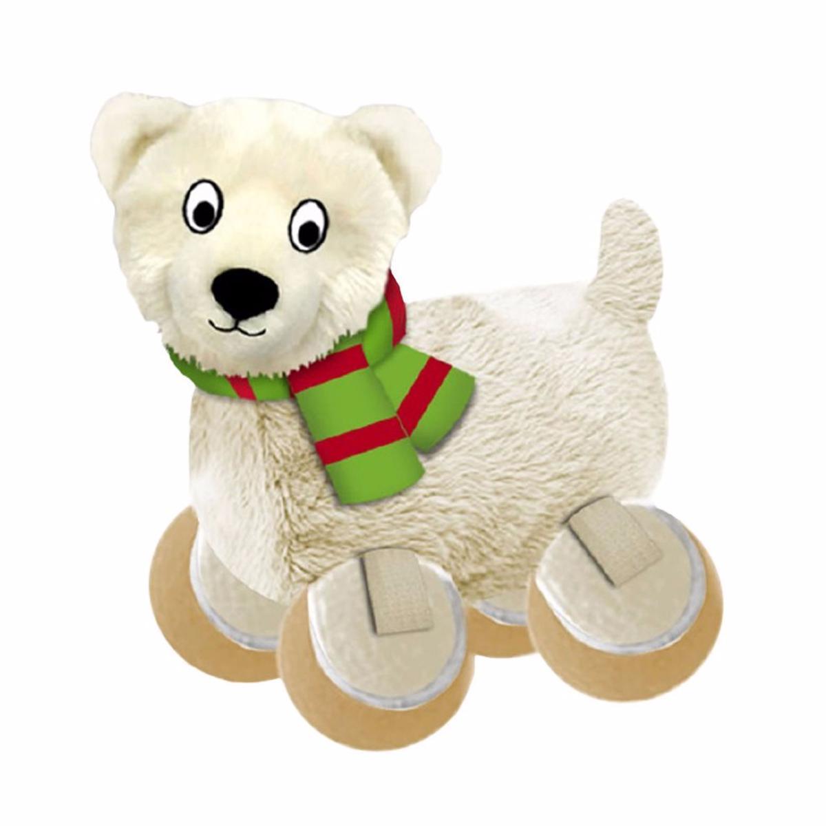 14fc2066708e Kong Holiday Tennishoes Polar Bear Dog Toy Small