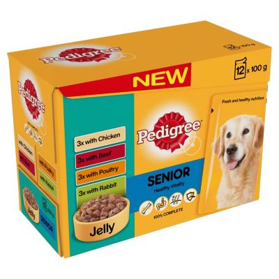 DOTS LONDON DONATION - Pedigree Pouches (Senior) - Variety In Jelly (12 X 100g)