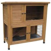 "Rabbit Hutch & Run Solid Base 46"" LB-314"