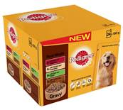 Pedigree Wet Dog Food Pouches (Adult) - Real Meal in Gravy (24 X 100g)