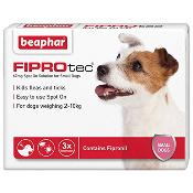 Beaphar Fiprotec Spot On Flea Removal and Prevention for Small Dogs (2 - 10kg) - 3 Treatments