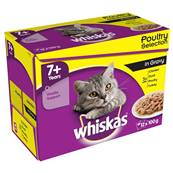 Whiskas Senior Pouch Multipack 12x100g Poultry Selection In Gravy