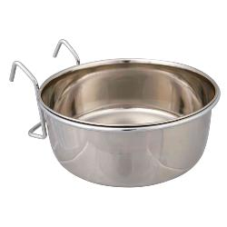 Trixie Stainless Steel Hook-On Coop Cup Pet Cage & Crate Bowl
