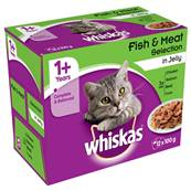 Whiskas Multipack 12x100g Fish & Meat Selection in Jelly