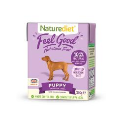 MADRA DONATION - Naturediet Gluten Free Wet Dog Food for Puppy and Junior - 10 x 390g