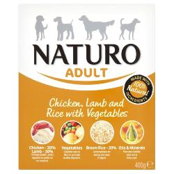 Naturo Wet Dog Food (Adult) - Chicken, Lamb, Rice and Veg 400g