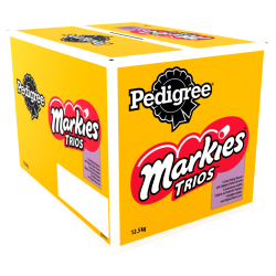 Pedigree Markies Trios Dog Biscuits - Meaty Rolls With Marrowbone 12.5kg BBE: 29/09/20