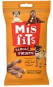 Misfits Dog Treats Tangly Twists - Beef and Cheese, 7 Chews