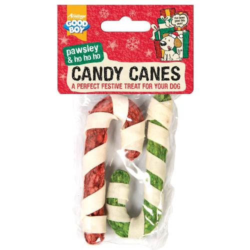 Armitage Pawsley Christmas Rawhide Candy Canes