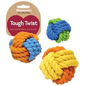 "Rosewood 3.5"" Rubber & Rope Ball Asstd"