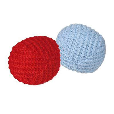 Trixie Set Of 2 Knitted Balls Cat Toy 4.5cm