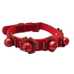 Ancol Christmas Tartan Bow Dog Collar Large